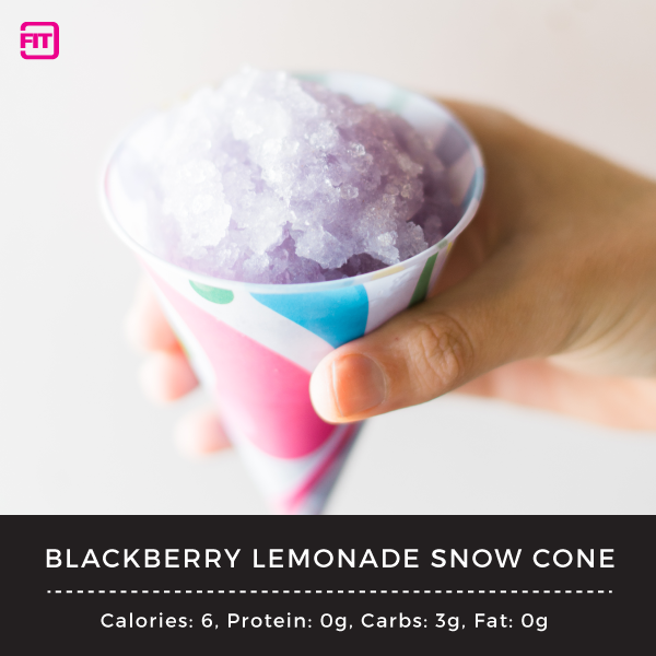 blackberry lemonade snowcone