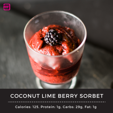 Coconut Lime Berry Sorbet