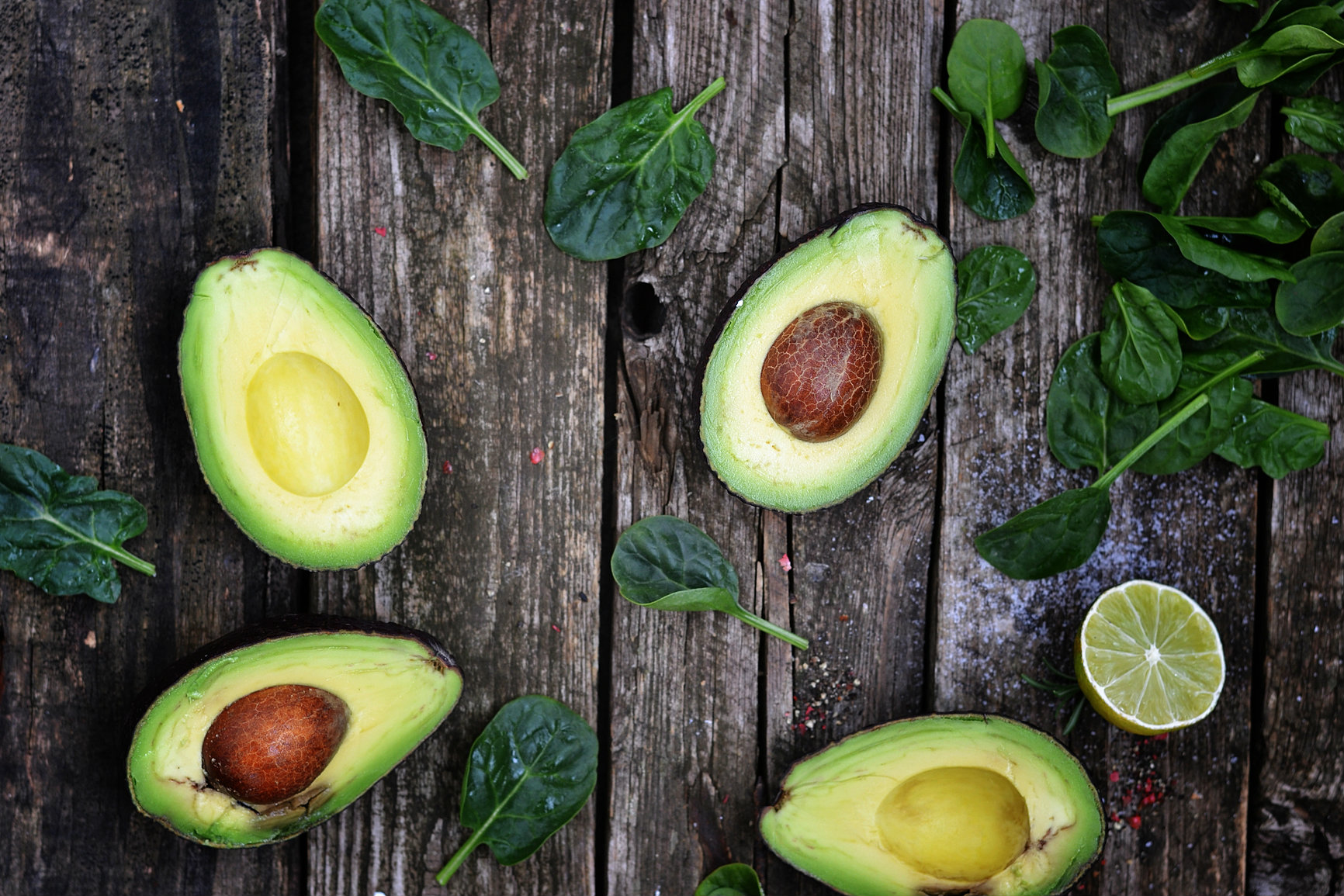 group of cut up avocadoes