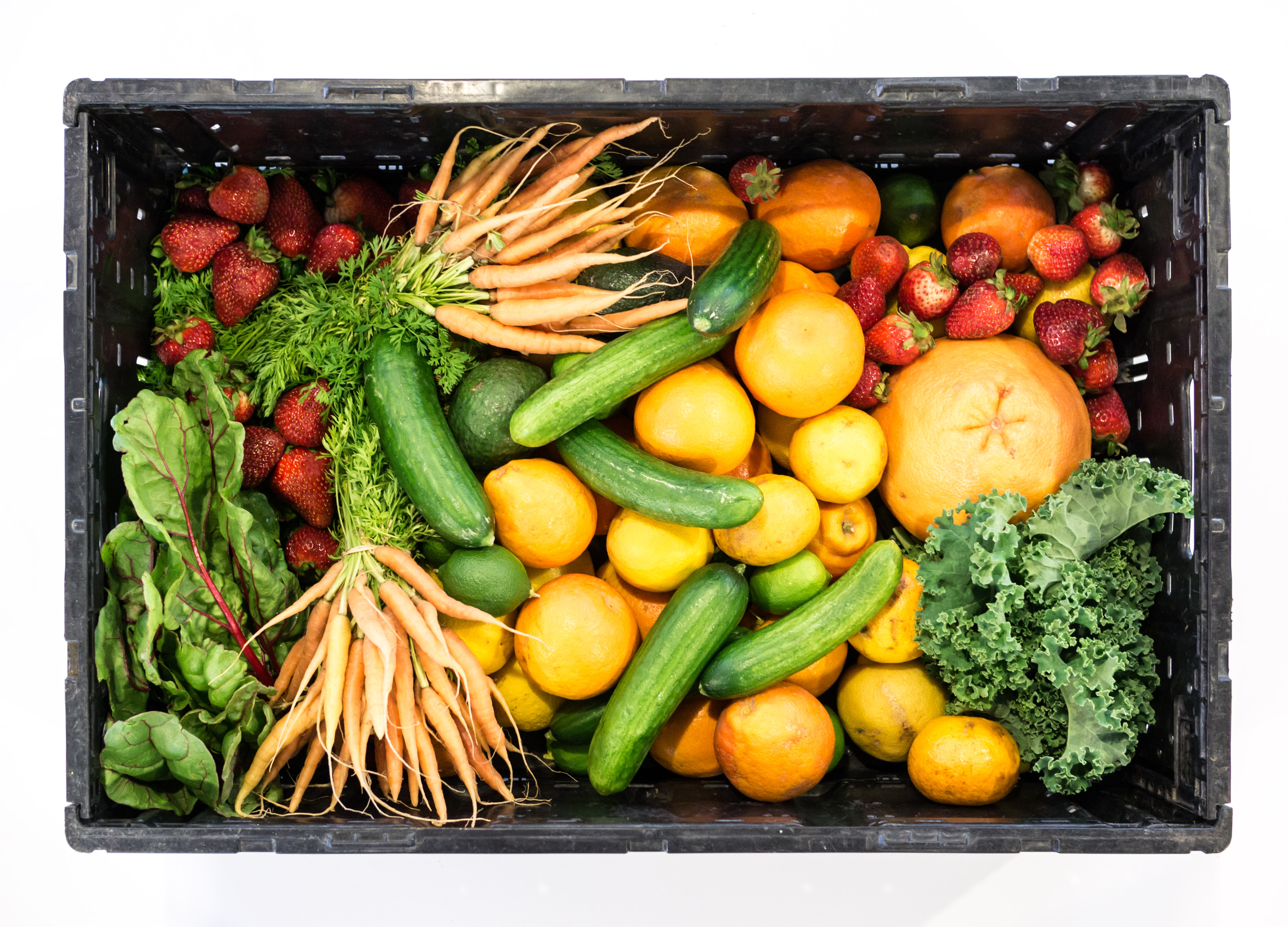 Arrangement of fruits and vegetables