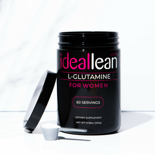 a tub of IdealLean l glutamine, which is good for your body and soul