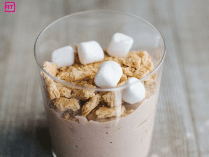 A high-protein smores pudding