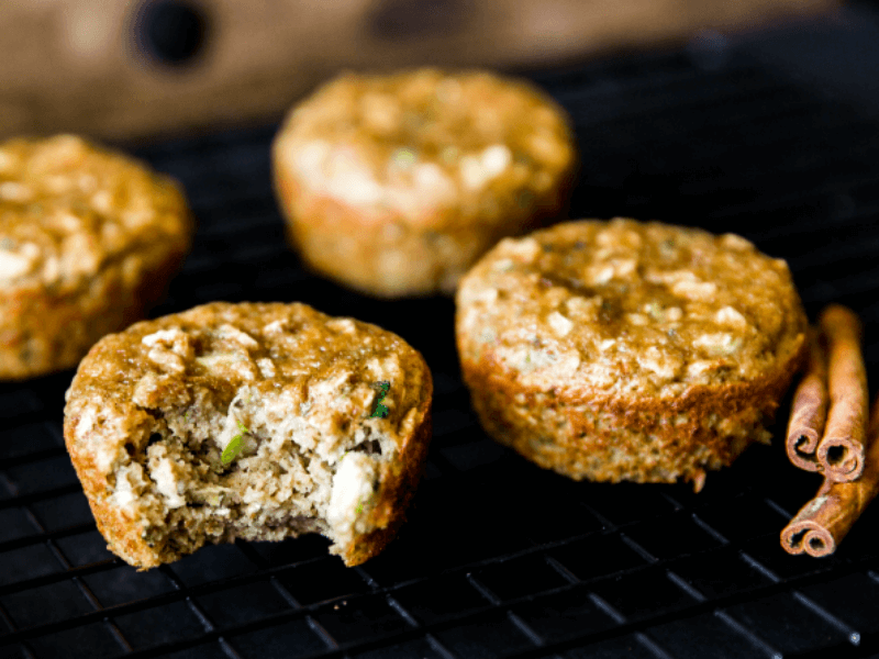 Some healthy high-protein zucchini muffins