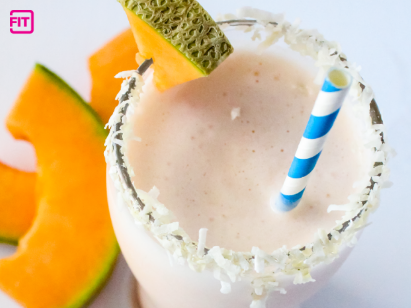 a coconut and melon smoothie