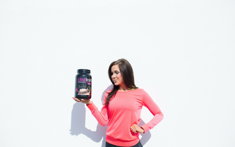Protein powder from IdealFit and a fitgirl
