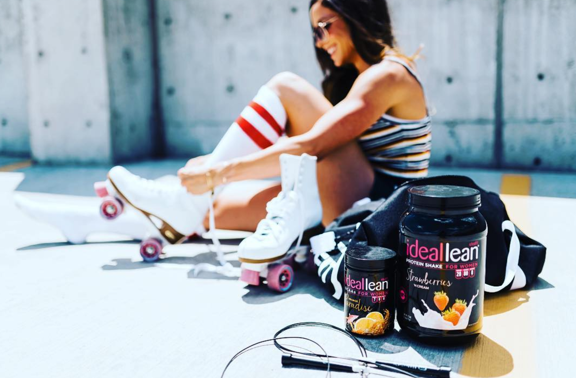 tamara with ideallean protein and BCAAs