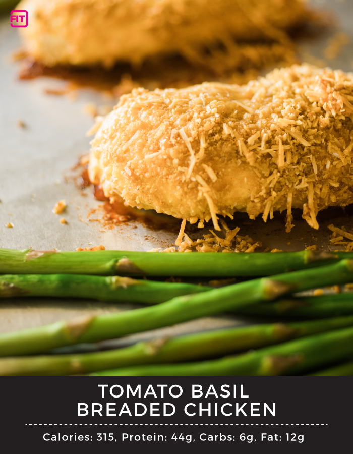 tomato basil breaded chicken