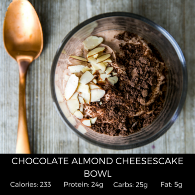 Chocolate Almond Cheesecake Bowl