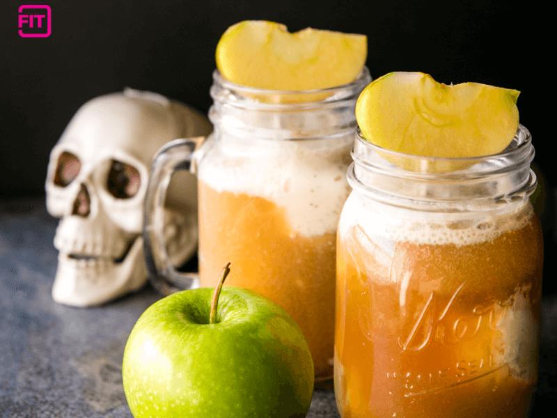 Poison apple cider floats