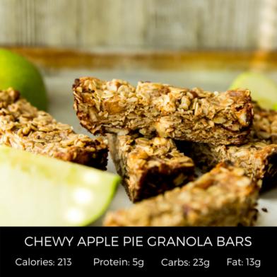 Chewy Apple Pie Granola Bars