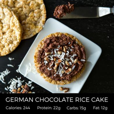German Chocolate Rice Cake