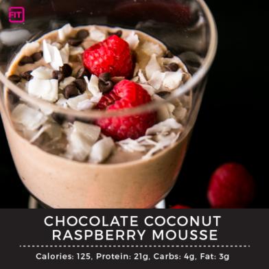 Chocolate Coconut Raspberry Mousse