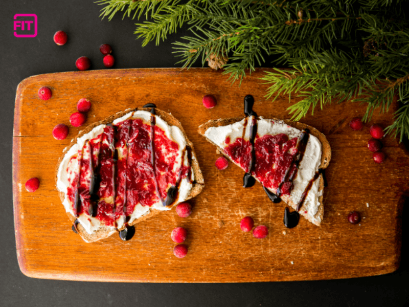 cranberry balsamic bruschetta