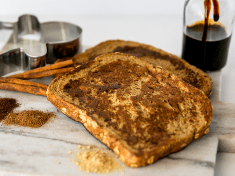 healthy gingerbread french toast