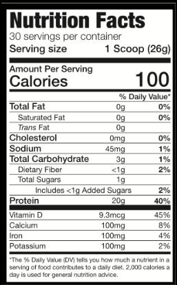 macro nutrition label