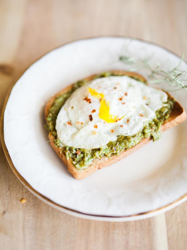 creamy egg pesto toast