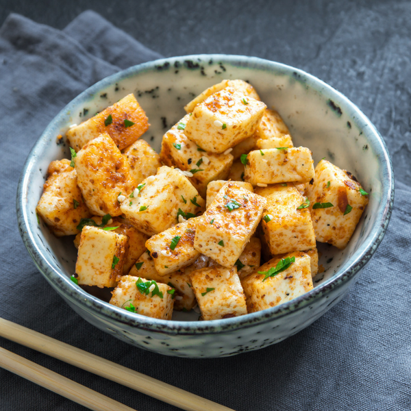 A bowl of delicious looking tofu
