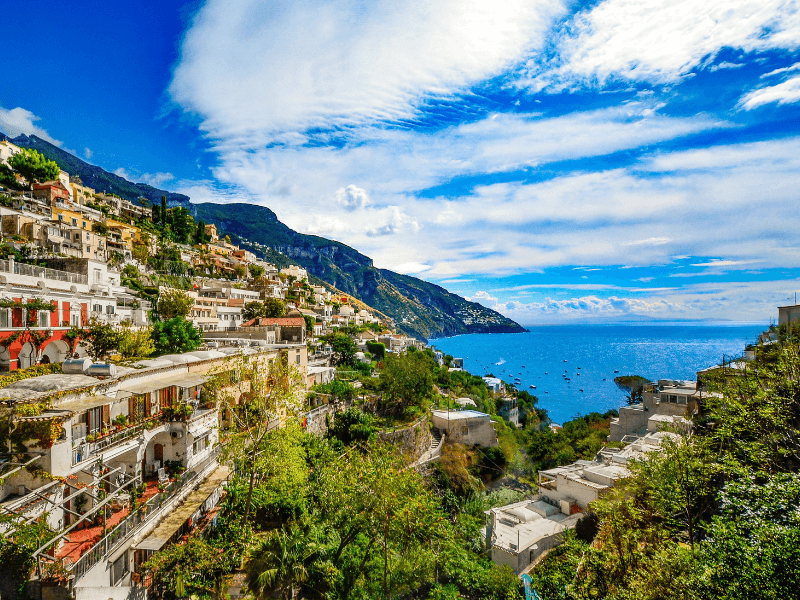 A breathtaking view from a city in the Mediterranean region, home of the Mediterranean diet