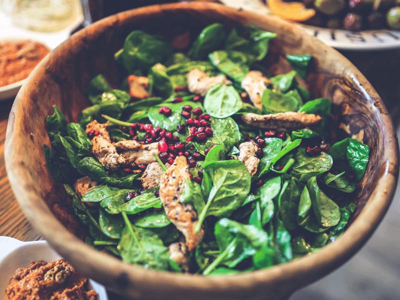 A mediterranean diet salad