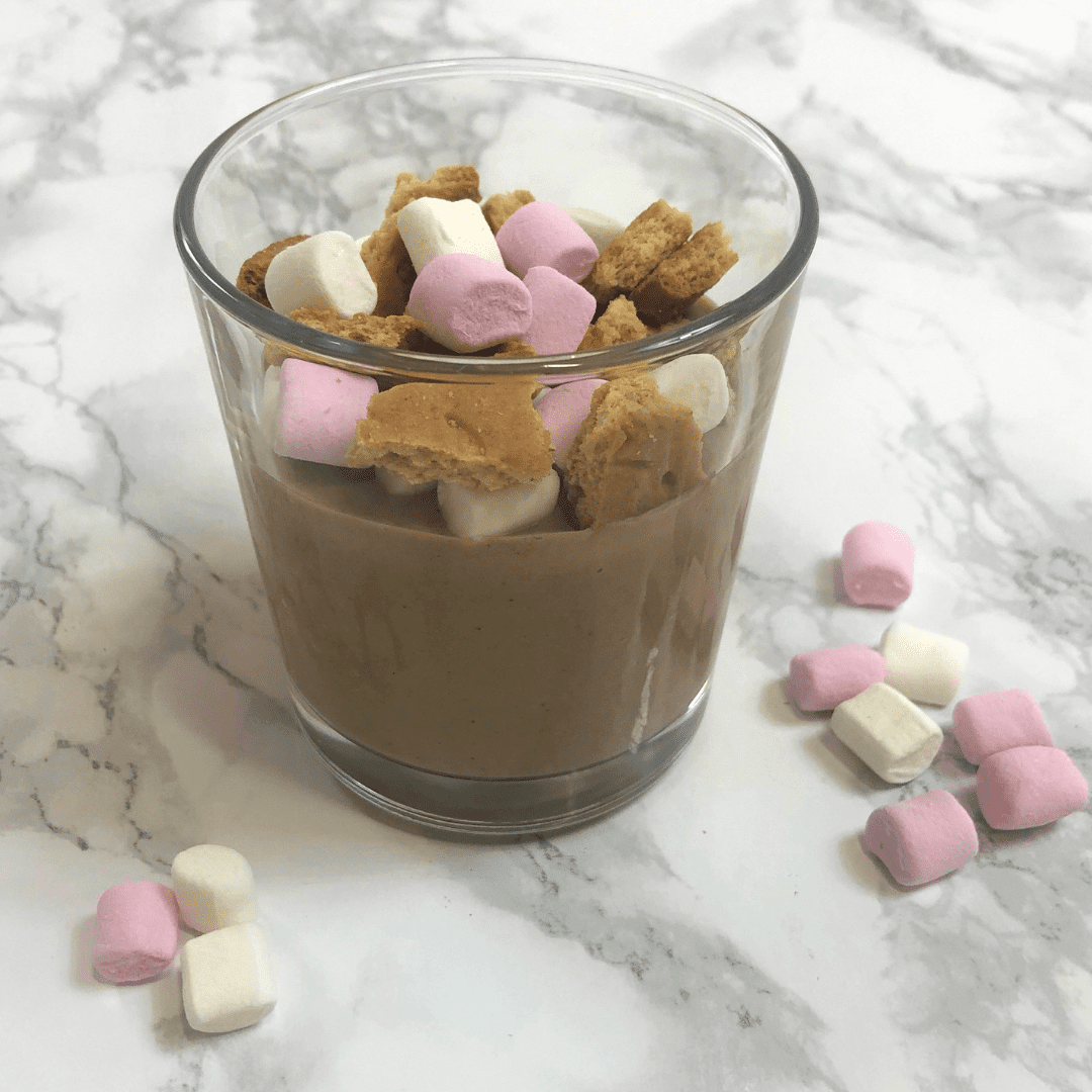 Smores Chocolate Pudding