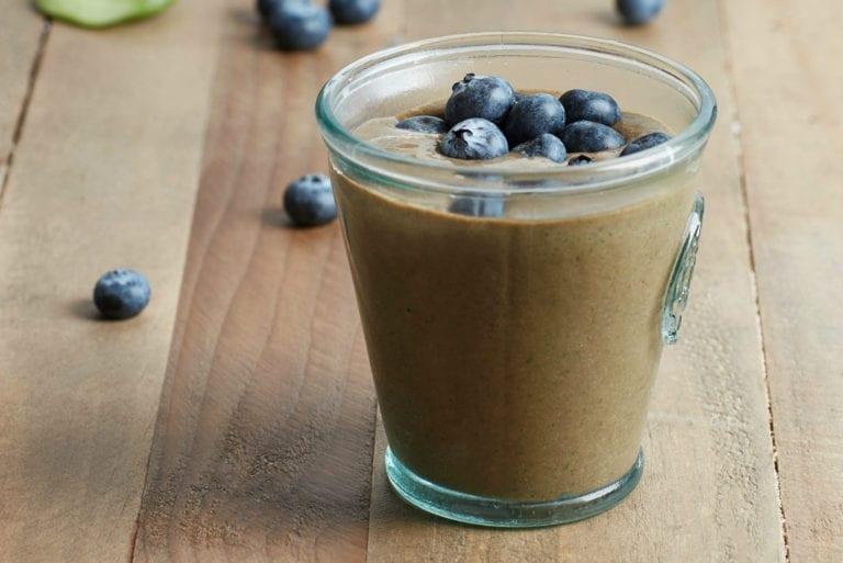 高蛋白藍莓奶昔