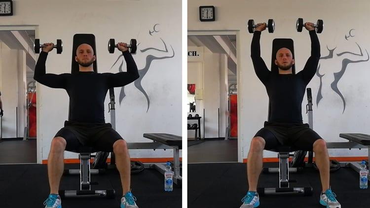Cviky na ramená- tlaky v sede