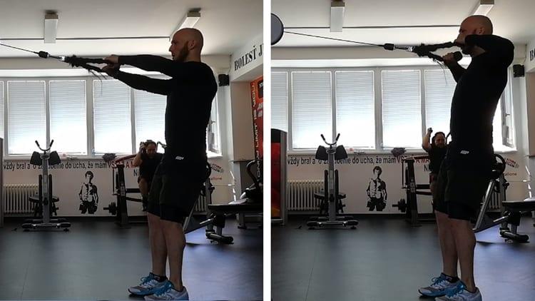 Cvik na zadné ramená
