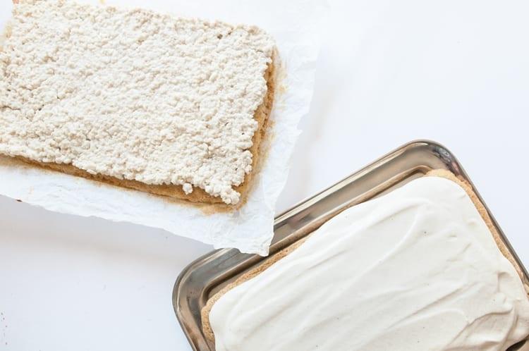 Príprava tvarohového koláčika