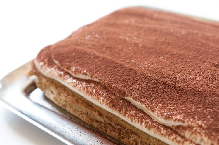 Kakaová vrstva na tvarohový koláč