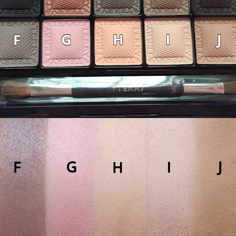 eye-shadow, swatches, byterry, 眼影