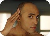 Man preparing to trim hair