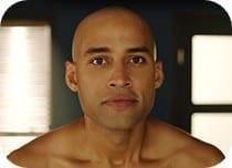 Man after shaving head