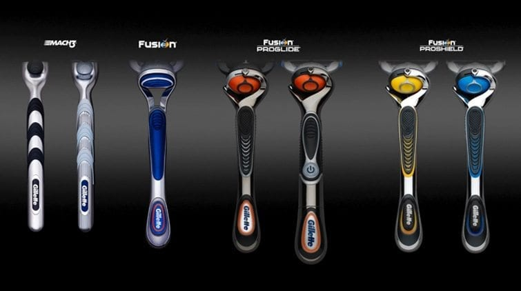 Gillette Fusion5 family