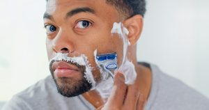 A clean, smooth and easy shave with Gillette razor & shaving cream
