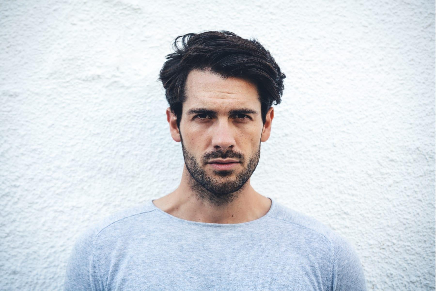 man with 3-day stubble beard-style facial hair