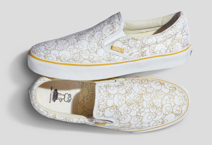 Vans x Murakami Slip On Gold Skull