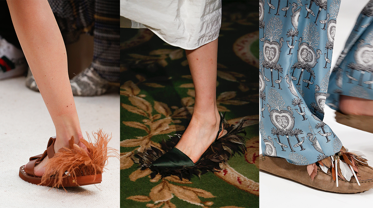 feathered shoes trend