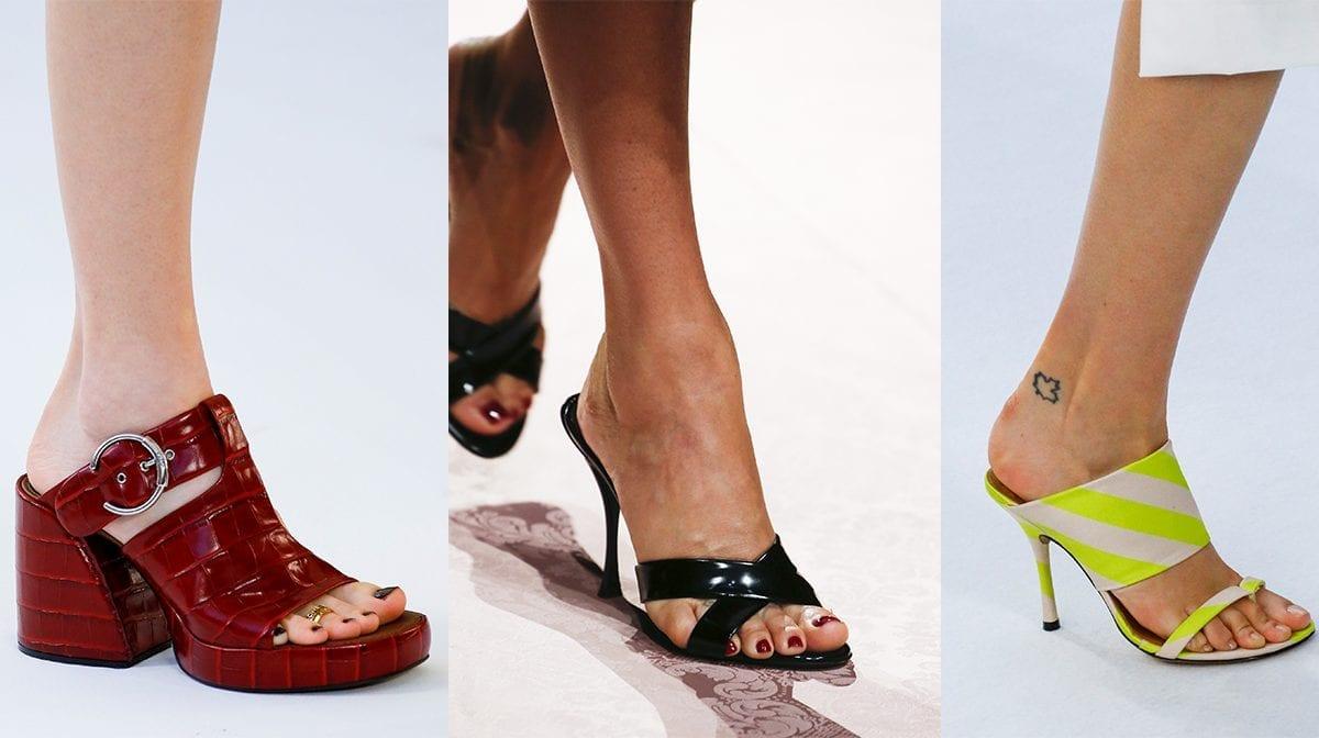 mule heels and mule sandals
