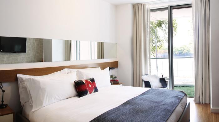 mccarren hotel and pool bedroom