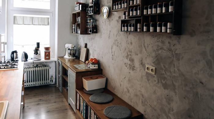 Berlin's Coolest Apartments - bare plaster