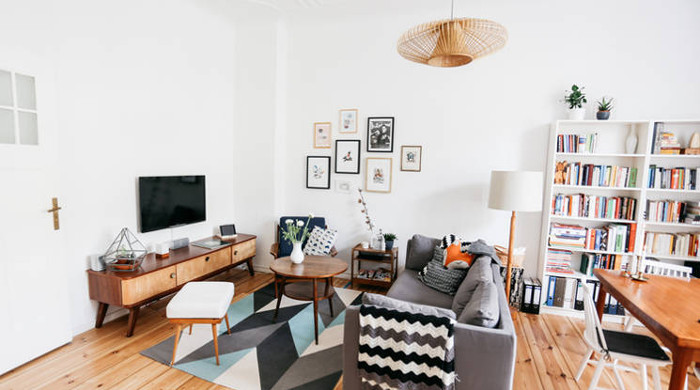 Berlin's Coolest Apartments - grey and white interior