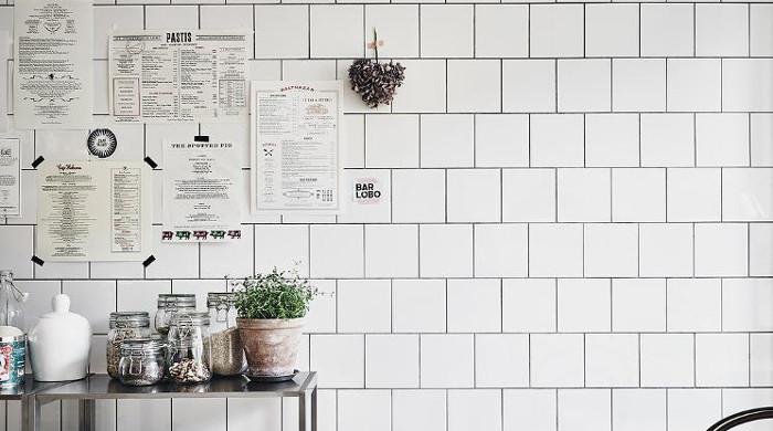 Hygge Swedish Apartment - Tiled Wall