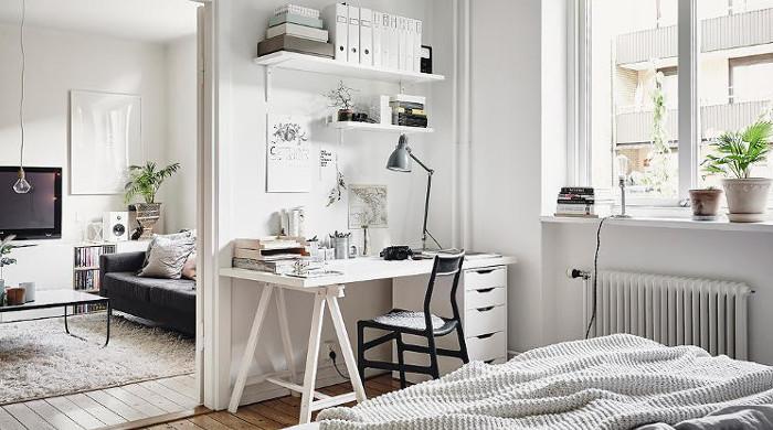 Hygge Swedish Apartment - Bedroom