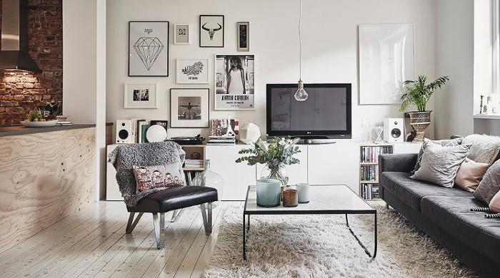 Hygge Swedish Apartment - Living Room