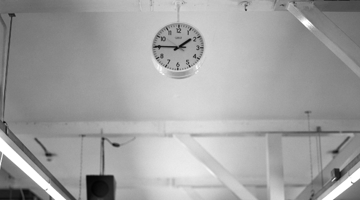 Sunspel factory clock