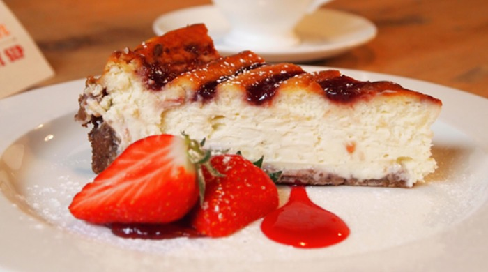 A slice of cheesecake at the Teacup Kitchen.