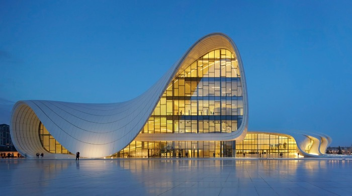 The Heydar Aliyev Center designed by Zaha Hadid.