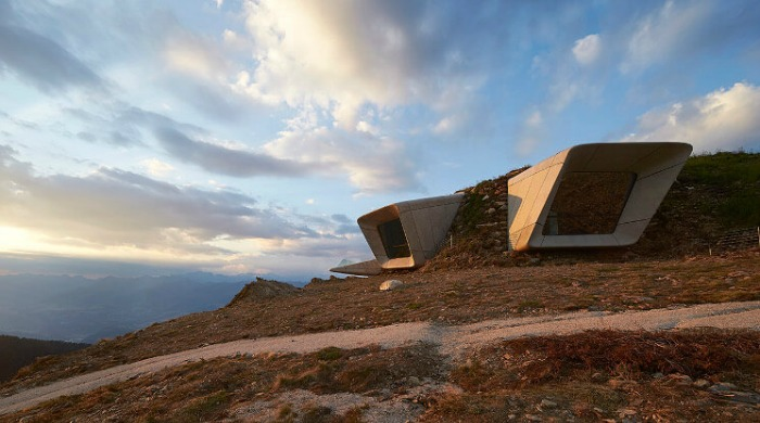 The Messner Mountain Museum Corones designed by Zaha Hadid.