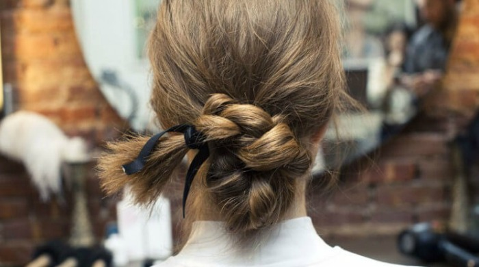 A plaited bun by Sara Rostrup.