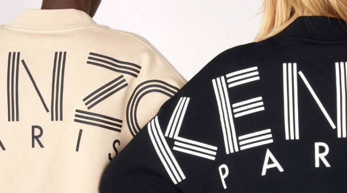 Two models wearing KENZO jackets.